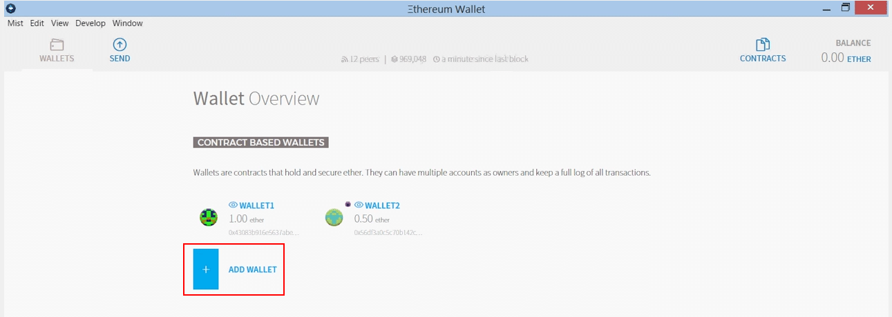 Add ethereum wallet