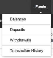 binance deposit drop-down