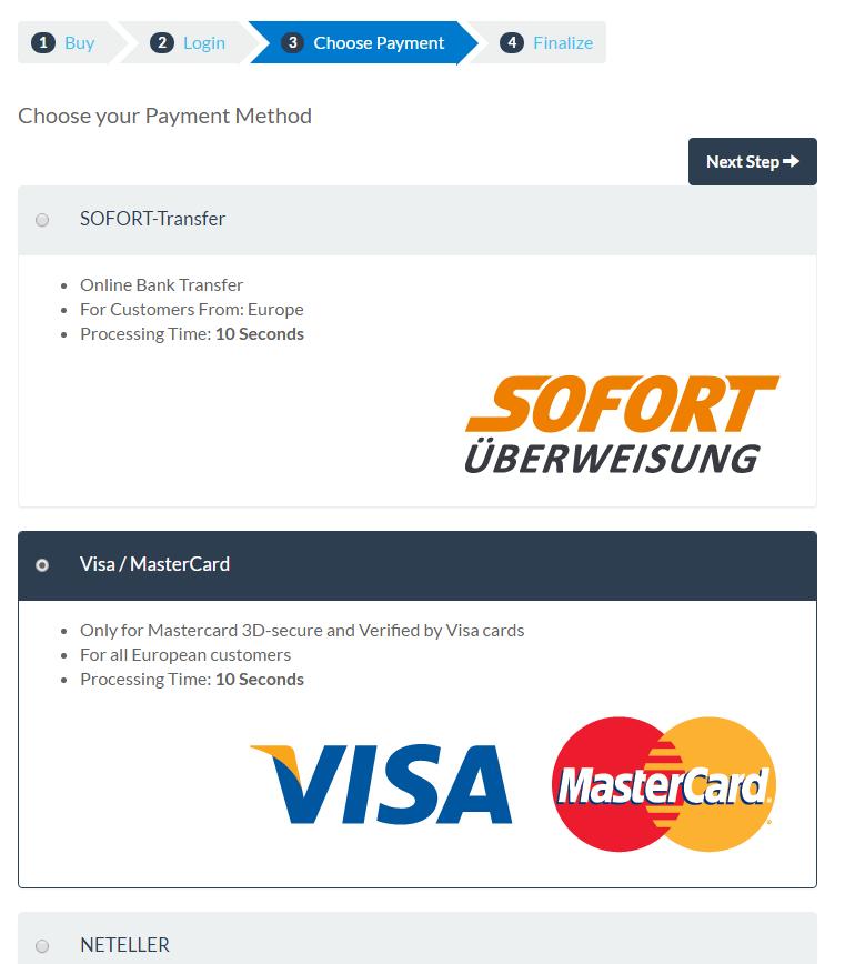 bitpanda payment method