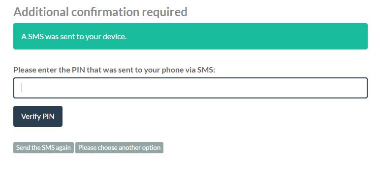 bitpanda pin verification