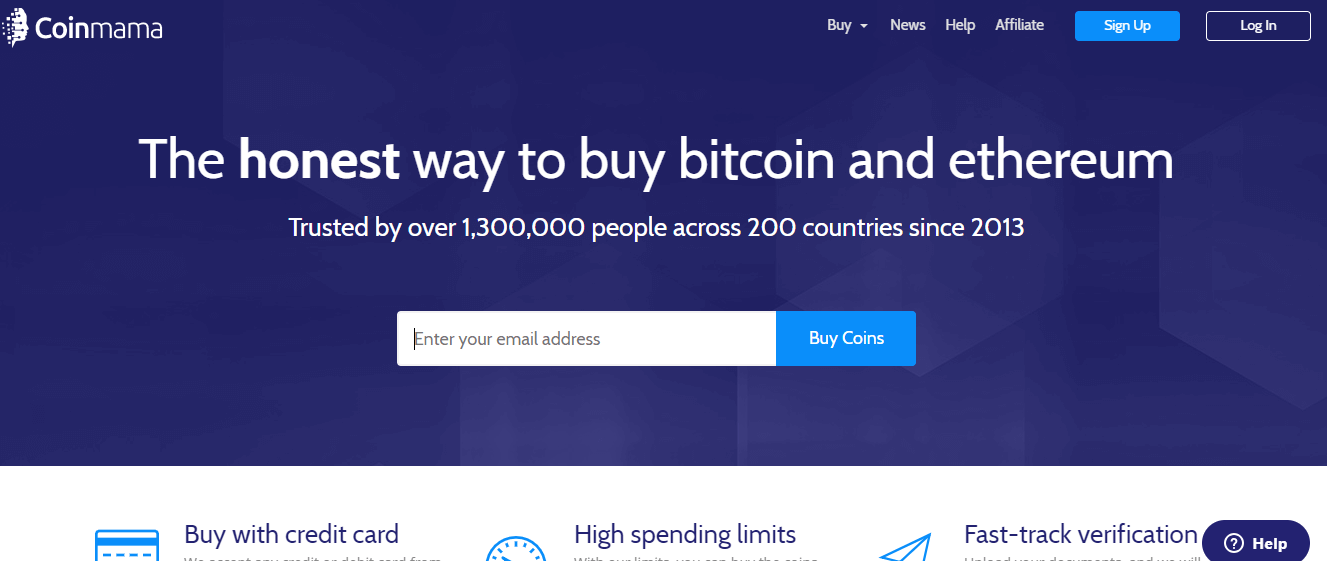 Buy cryptocurrency with Coinmama