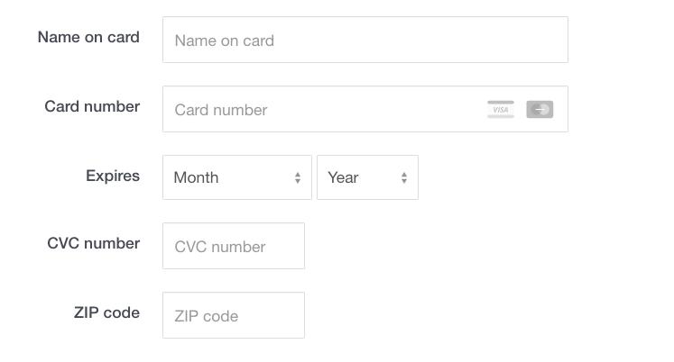 credit,debit card information