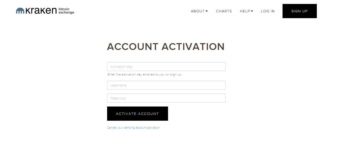 kraken account activation