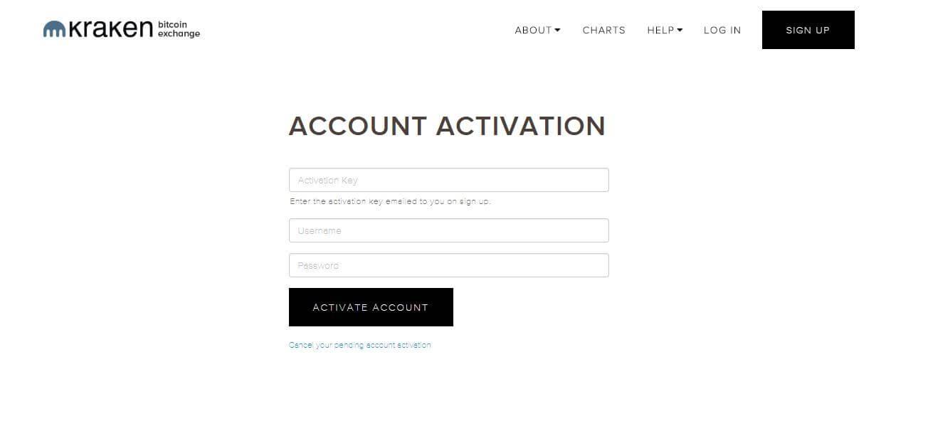 kraken account activation