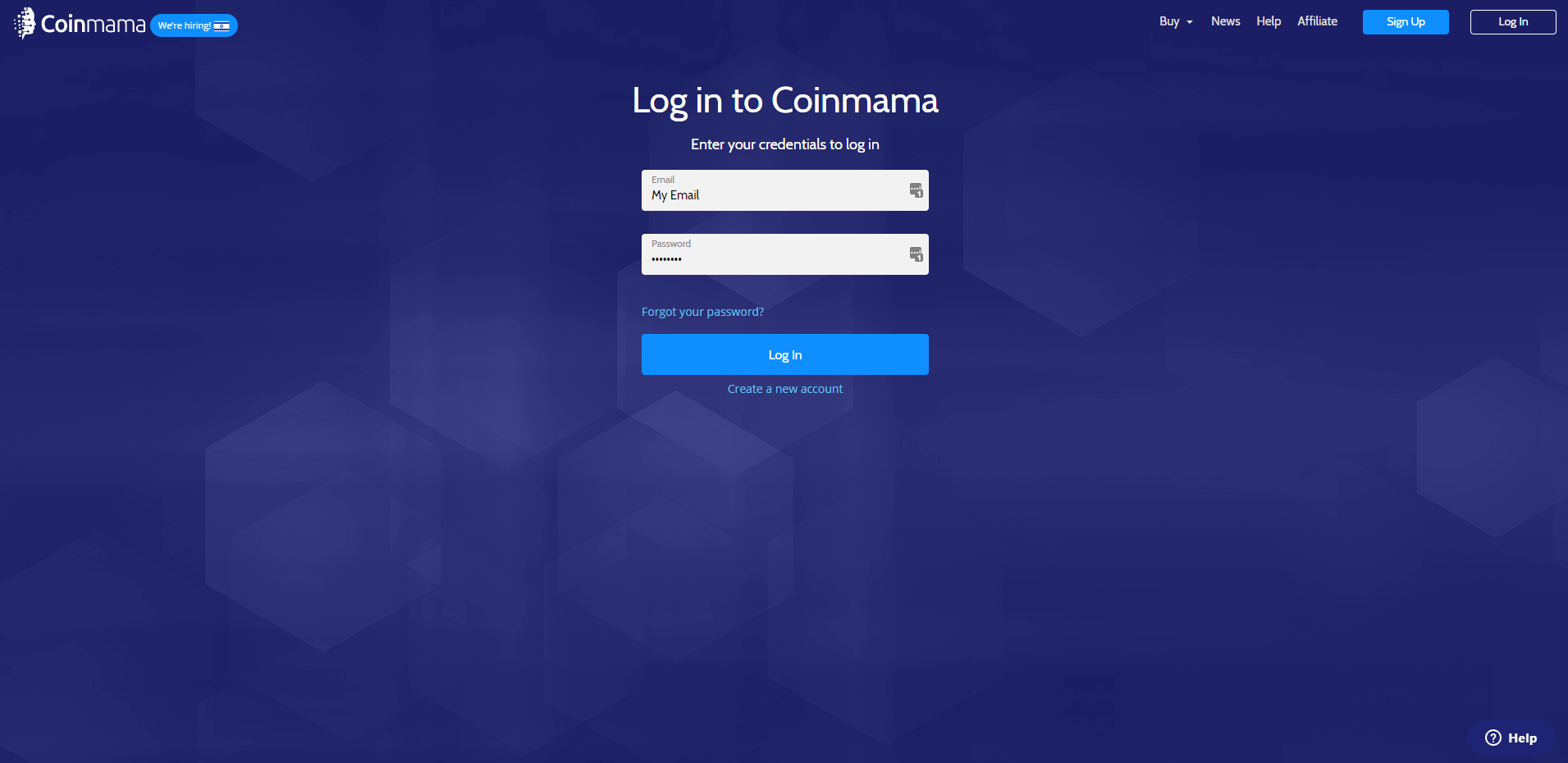 login to Coinmama