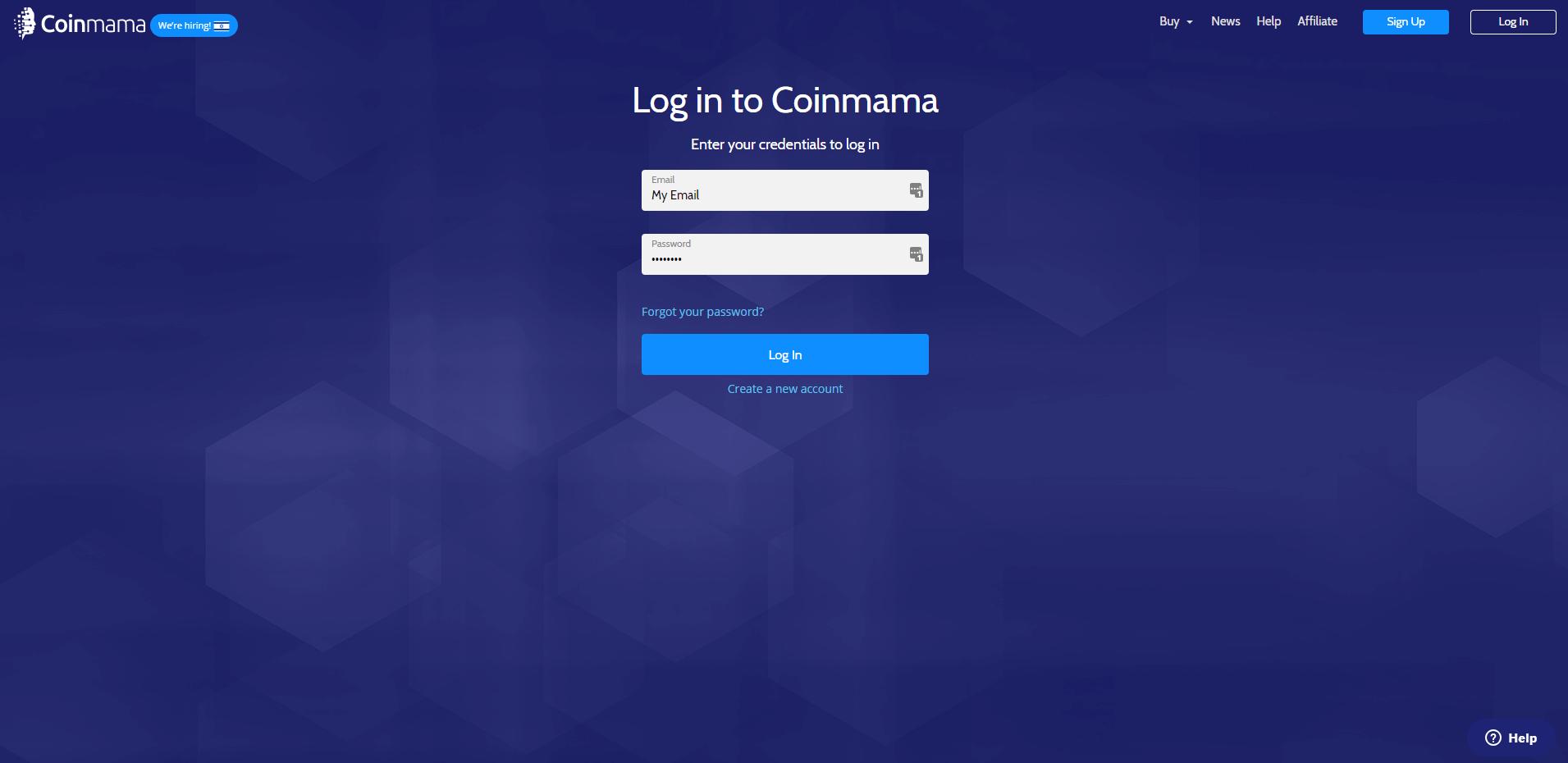 login to Coinmama