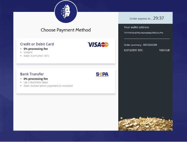 select a payment on coinmama