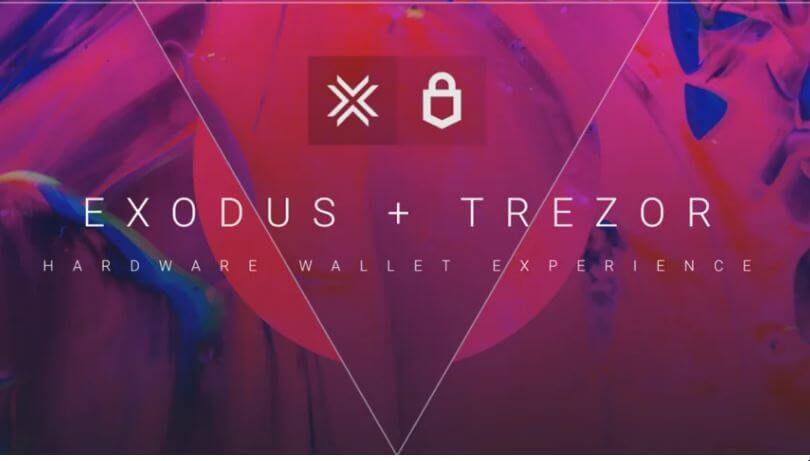 Exodus + Trezor Hardware wallet experience